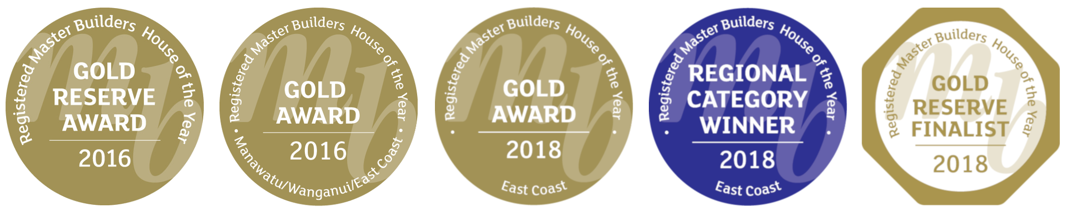 Master Builder House of the Year Gold Award